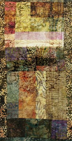 """a e s t h e t i c w o r k by Kelly M.  """"Navigations [scanned quilt piece with digital embellishments]"""""""