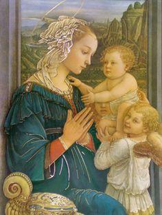 Madonna in Adoration, painted by Filippino Lippi (the son of Fra Filippo Lippi)