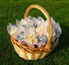 Sparkly delphinium petal confetti - in pretty pale pink cones and a flower girl basket // The Real Flower Petal Confetti Company Real Flowers, Wild Flowers, Pale Pink, Greyish Blue, Real Weddings, Winter Weddings, Flower Girl Basket, Delphinium, Flower Petals