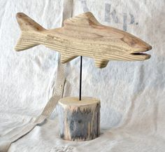 Mounted driftwood fish - whiteflower farmhouse