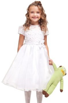 Amazon.com: KID Collection Girls 2 to 10 Flower Girl Communion Pageant Dress (3 Colors): Clothing