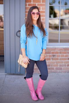 {Pastels-Bright-Spring-Summer-Hunter Boots-Pink-Fashion-Style}