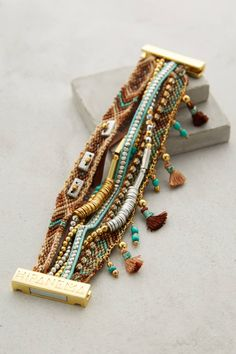 at Anthropologie Etesian Layered Bracele in turquoise