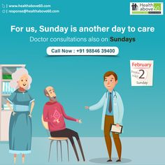 To provide the care and comfort for the seniors is our primary objective. Avail the consultations also on sundays. Call us on 98846 39400 for more details. Doctor On Call, Good Doctor, Chennai, Health Care, Medical, Medicine, Med School, Health, Active Ingredient