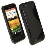igadgitz Dual Tone Black Durable Crystal Gel Skin TPU Case Cover for HTC One V Primo T720e Android Smartphone Mobile Phone with Screen Protector Reviews - igadgitz Dual Tone Black Durable Crystal Gel Skin TPU Case Cover for HTC One V Primo T720e Andr