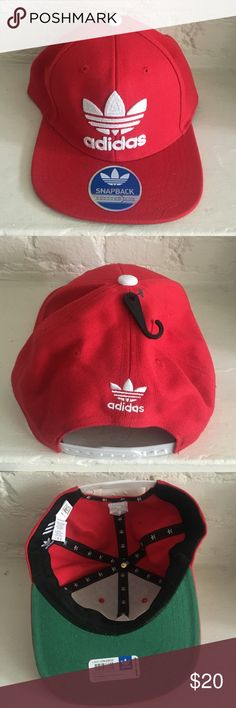 61d91b6574e8 Adidas Red SnapBack  New w tags  Red cotton with SnapBack closure. Stickers  still on!