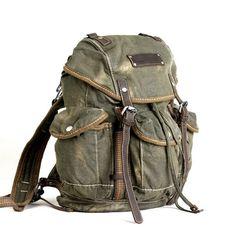 b964c9507 HOT Women's Men's Canvas Leather Backpack Rucksack Satchel Handbag Shoulder  Bag in Backpacks, Bags & Briefcases
