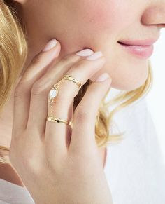 Jeweled Double Ring.