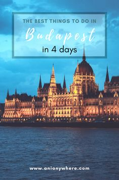 "Welcome to Budapest, a vibrant city full of impressive architecture, spectacular views, thermal baths, ruin bars, and so much more! It's without a doubt one of the most interesting cities in Europe. If you're considering visiting ""the pearl of the Danube"", you've come to the right place. Allow me to share with you the best things to do in Budapest in 4 days. Places In Europe, Europe Destinations, Best Places To Travel, Amazing Destinations, Europe Travel Guide, Budget Travel, Travelling Europe, Europe Packing, Backpacking Europe"