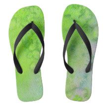 Call of Summer Green Abstract Watercolor Flip Flops Chart Design, Anne Of Green Gables, Green Nature, Summer Vibes, High Top Sneakers, Flip Flops, Slip On, Sandals, Stylish