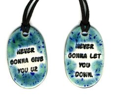 Fabulous best friend necklaces on Etsy by artist Surly Amy.