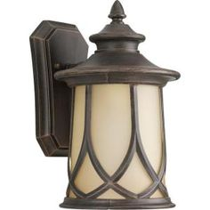 Progress Lighting Resort Collection 1-Light Outdoor Aged Copper Wall Lantern-P5913-122DI at The Home Depot