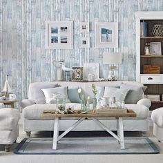 Coastal country living room | Simple designs for easy living room makeovers | Room Ideas | PHOTO GALLERY | Ideal Home | Housetohome.co.uk