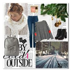 """""""Shein"""" by rita65 ❤ liked on Polyvore featuring NYDJ, Candie's, Clarins, Bobbi Brown Cosmetics, groupcontest, Winters, winter2015 and shein"""