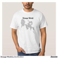 Strange World T-Shirt Weird World, Funny Cute, Cool T Shirts, Shirt Style, Fitness Models, Kids Shop, Mens Tops, How To Wear, Fashion Design