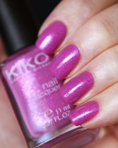 KIKO Nail Lacquer 500 - Pearly Oleander Pink
