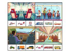 """Развивающая игра с прищепками для детей """"Мы едем, едем, едем ... угадай транспорт"""" Preschool Worksheets, Transportation, Printables, Nice, Fictional Characters, Poster, Day Planners, Language"""