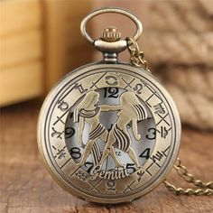 Birthday Gifts For Teens, Gifts For Kids, Teen Birthday, Constellations, Kids Necklace, Necklace Chain, Pocket Watch Necklace, Bronze, Chains For Men