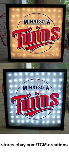 MLB Major League Baseball Minnesota Twins shadow boxes with LED lighting