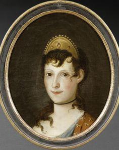 Anonymous: Letizia Bonaparte as a young woman. Undated. Musée National de la Maison Bonaparte, Ajaccio. Source: http://valinaraii.tumblr.com/
