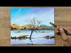 Riverside Landscape | Acrylic Painting for Beginners | Step By Step - YouTube