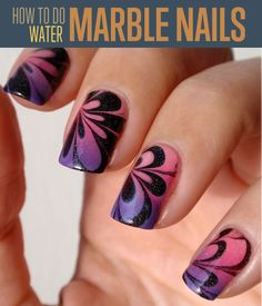 How to Do Water Marble Nail Art | Best fashion trending for ladies. Elegant looking in different designs. #DIYready