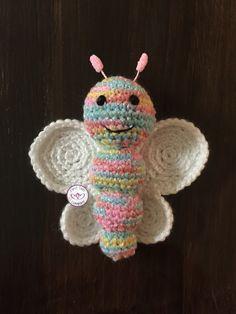 Crochet amigurumi butterfly pattern by First Twin Company
