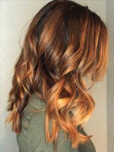 My new balayage hair color. Copper and brown. Love it!!
