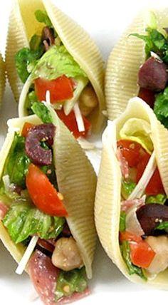 Italian Chopped Salad Stuffed Shells