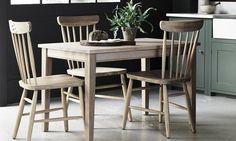 Neptune Wardley oak dining chairs, Malvern 4 seater oak dining table