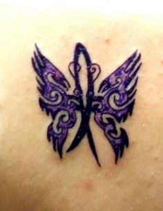 epilepsy tattoo on pinterest awareness tattoo purple ribbon tattoos and breast cancer tattoos. Black Bedroom Furniture Sets. Home Design Ideas