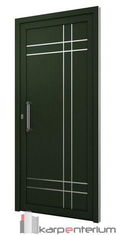 Puerta moderna - Lilly is Love Flush Door Design, Home Door Design, Door Gate Design, Bedroom Door Design, Door Design Interior, Wooden Front Door Design, Wood Front Doors, Modern Wooden Doors, Modern Exterior Doors