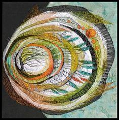 Available Heartwood Works and Tree Mandalas - Autumn Red Oak - Lorraine Roy: Textile Art Embroidery Art, Creative, Tree Art, Fabric Art, Art, Contemporary Textiles, Collage Art, Art Journal, Textile Artists