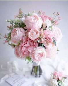 Bridal bouquet, wedding flowers, inspiration ideas for flower arrangements. Bridal bouquet, wedding flowers, inspiration ideas for flower arrangements. Peony Bouquet Wedding, Bridal Bouquet Pink, Peonies Bouquet, Wedding Flower Arrangements, Bridal Flowers, Pink Peonies, Floral Wedding, Pink Flowers, Pink Flower Bouquet