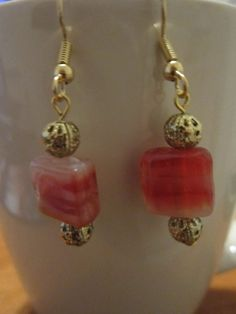 Red Agate/GoldPlated Accents 22K by BeadazzlingButterfly on Etsy, $15.00