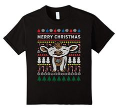 Farm Animals Baby Calf Merry Christmas Ugly Sweater T-shirt