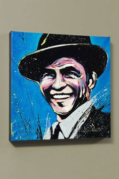 "David Garibaldi Sinatra (Blue Eyes), Ltd. Ed. Giclee on Canvas (48""x48"")"