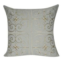 Found it at Wayfair - Floral Embroidered Decorative Throw Pillow