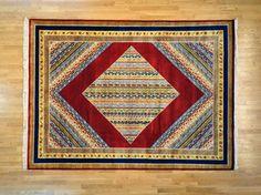 Colorful Area Rug, 8.5' X 12' 100% Wool Hand Knotted Kashkuli Lori Buft Rug Sh8626
