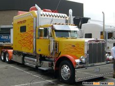 Peterbilt with custom flamed paint from the 2008 Mid America Truck Show