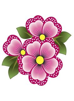 Simple Flower Design, Simple Flowers, Flower Shape, Flower Designs, Floral Design, Flower Pot Art, Flower Crafts, Machine Embroidery Patterns, Embroidery Designs