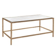 Emporium Home Stud Coffee Gold Table
