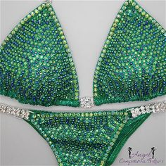 Angel Pro 2 color: peridot and emerald ab. Hologram kelly green. Perid – Angel Competition Bikinis