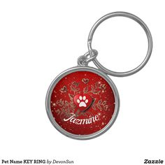 Shop Pet Name KEY RING created by DevonSun. Love Pet, My Love, Twinkle Star, Matching Gifts, Pet Names, Heart Of Gold, Key Rings, Valentines Day, Shop My