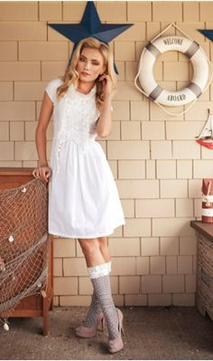 Trade Winds White Voile Dress with White Lining
