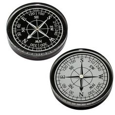 Large Compass In Black Or White