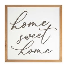 """home Sweet Home"" 20"" Square Wood Wall Art Multi - Bring a traditional look to your home decor with the typographic focus of the ""Home Sweet Home"" Wood Wall Art. This sturdy, natural piece adds a nice, sentimental touch to your walls with its script lettering."