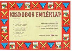 Kisdobos emléklap Budapest, Childhood, Hungary, History, Retro Posters, Pickle, Vintage, Humor, Infancy