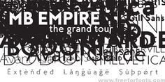 MB Empire Font Free Download | Free For Fonts
