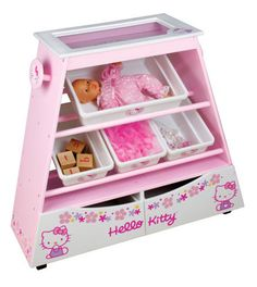 Hello Kitty toy shelf.... shoot I could use this for all my craft notions!